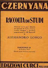 Alessandro Longo RACCOLTA DI STUDI OPERE DI CARLO CZERNY FASCICOLO III