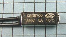 Thermostat:KSD9700 15ºC : 59ºF : N.C. NC:Temperature:BiMetal Switch
