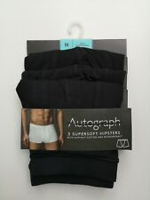 Men's 3 Pack Hipsters Trunks Autograph Underwear NEW Ex M&S Size S-XXL RRP £24