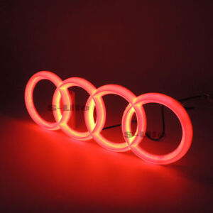 Red Illuminated Led Grille BlLED Logo Emblem Light For Audi A1 A3 A4 A5 RS3 A6