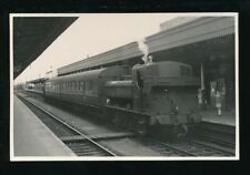 Somerset RAILWAY engine #7436 with Chard train at TAUNTON station 1960 photo