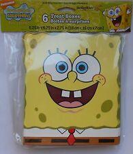 Party Snack Boxes SPONGEBOB SQUAREPANTS Treats Favors Birthday Supplies 6 pack