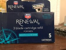 Renewal, 5ct. Men's 3 Blade Cartridge Refills Opened box