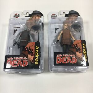 The Walking Dead Both Andrea Figures (Ltd Ed) Skybound Exclusive McFarlane Toys