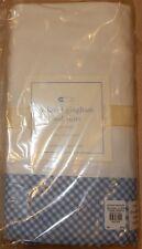 Pottery Barn Baby Crib Skirt Dust Ruffle New Blue Gingham Nursery Bedding