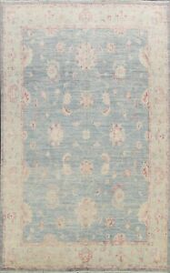 Muted Floral Authentic Oushak Turkish Area Rug Hand-knotted Vegetable Dye 8'x10'