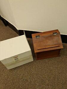 VintageWise Recipe Box - Solid Wood