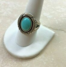 Carolyn Pollack 925 sterling silver turquoise ring size 9, Native American ring