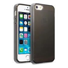 Delgado Goma Gel Funda Para Nuevo iPhone 5/5S/SE - Humo Negro