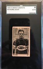 1924-25 Maple Crispette Hockey Card #14 AUREL JOLIAT  SGC A