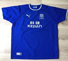 EVERTON SHIRT PUMA HOME 125 YEARS ANNIVERSARY JERSEY 2003-2004 KIT SIZE XL.