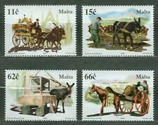 MALTA 2005 Working Horses, Mules on Set of Four Stamps MNH