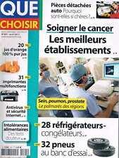 Que Choisir   N°491   Avr 2011 Soigner Le Cancer