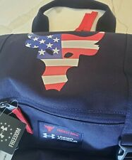UA PROJECT ROCK FREEDOM REGIMENT USA Troops Backpack Laptop Training BLUE