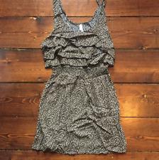 Xhilaration Target | Leopard Ruffle Mini Dress | Tank | Large | Brand New!