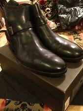 A. Testoni Mens Ankle Boot Black Size 13 DO47069REM. Last Pair!!!