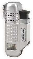 "Vertigo ""Equalizer"" Chrome Quad Torch Butane Lighter, Cigar Punch"