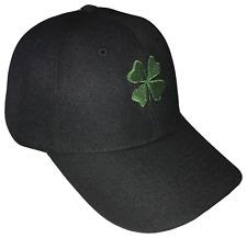 76027b0e61d Shamrock 4 Leaf Clover Adjustable Baseball Cap Caps Hat Hats Black   Green