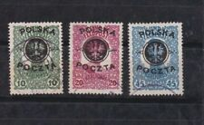 1918 Sc 27/9 set,lublin issue,optd              l34