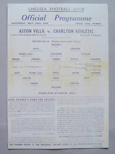 1944 F.A. League cup final programme Aston Villa v Charlton Athletic Mint con..