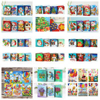 5D DIY Diamond Mosaic Greeting Cards Xmas Birthday Halloween Gift Home Decor
