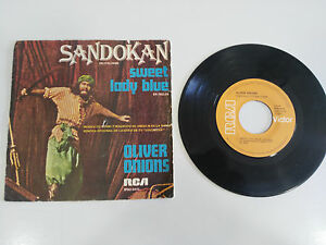 "Sandokan Sweet Lady Blue Oliver Onions Single 7 "" Vinyl vinyl Spain Ed 1976 Rca"