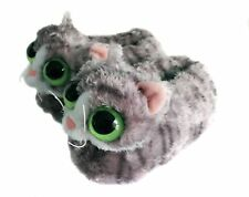 Onmygogo Indoor Fuzzy Winter Animal Cat Plush Soft Kitty Slippers for Men Wom...
