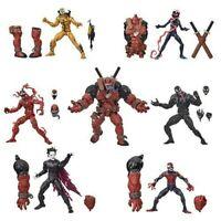 COMPLETE SET Marvel Legends BAF Venompool wave Spider-Man Maximum Venom Carnage
