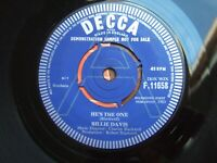 "BILLIE DAVIS - HE'S THE ONE - UK DEMO 7"" DECCA F.11658 / 1963 IN CO.SLEEVE EX"