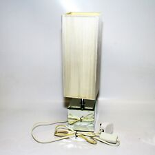 Square Side Table Lamp 3W LED Bulb Mirror Base Vertical Strip String Lampshade