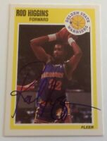 Rod Higgins 1989 Fleer Hand Signed Card Golden State Warriors RACC