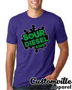 Sour diesel Kids Kush strain Parody Weed T shirt 420 Legalize THC CBD Marijuana