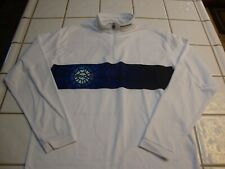 SPYDER Mid-Layer FADE T-NECK White WEB Long Sleeve Pullover Ski Shirt Mens Small