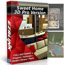 Sweet Home 3D Interior Design House Architect Software PRO Windows Mac CAD App