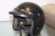 Vintage 1974 Bell RT Motorcycle Helmet Black Size L Racing