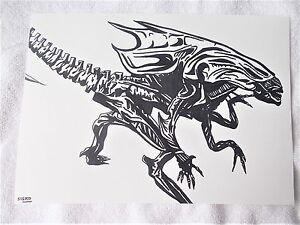 A4 Art Marker Pen Sketch Drawing Alien Movie Queen Running