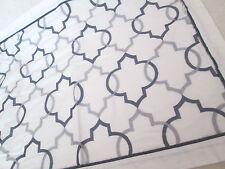 Standard Sham ~ Gray & White LATTICE Embroidered ~ Wamsutta  ~ Single Shams