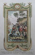 Tod von captain Cook auf Hawaii - Originaler Kupferstich von Baldwyn aus 1794