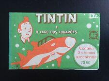 Rare Pochette de 3 autocollants Tintin Lac aux requins ETAT NEUF
