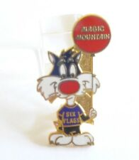 Magic Mountain Sylvester Six Flags Pin Lapel Pinback 1985