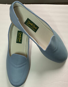 Daniel Green Womens Shoes SZ 9 1/2 Wide Blue Wedge Leisure Footwear Vintage