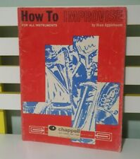 How to Improvise for All Instruments! Sheet Music Booklet by Stan Applebaum!