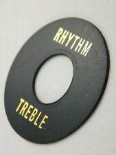 AGED Round BLACK RHYTHM TREBLE TOGGLE SWITCH PLATE for 1956 Les Paul Gibson