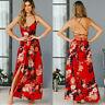 Women's Boho Floral Long Maxi Evening Cocktail Party Beach Dress Sundress Summer