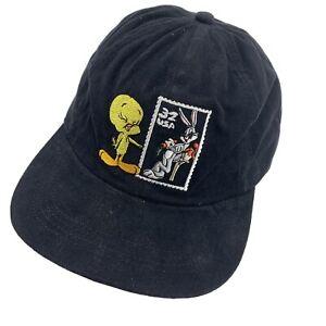 Tweety Bugs Bunny Stamp Looney Tunes Youth Ball Cap Hat Snapback Baseball