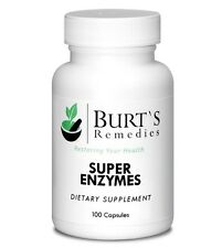 Burt's Remedies Super Enzymes for Food Digestion, Helps with Reflux & Bloating