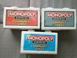 MONOPOLY SURPRISE COMMUNITY CHEST RED BLUE AND TEAL CHEST NEW UNOPENED