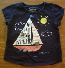 "TODDLER GIRL SIZE 3T OSHKOSH TOP ""SAIL AWAY WITH ME"""