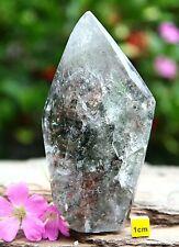 Rare GARDEN SCENIC LODOLITE QUARTZ Point Tower Crystal Obelisk Inclusions 366g