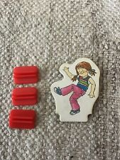 1978 Hasbro MB Chutes & Ladders Replacement Pieces 3 Bases 1 Character FREESHIP